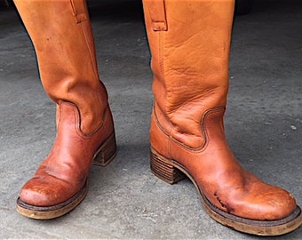 Mens Size 10 1/2 Leather Boots  PRICE IS REDUCED!!