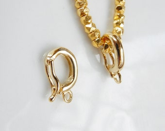 Gold vermeil enhancer  bail with closed loop , Enhancer bail with loop  (13.4x8mm), gold plated .925 sterling silver