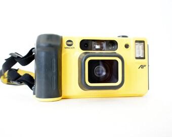 Minolta Weathermatic Dual35 AF Waterproof Camera - Film Tested Working