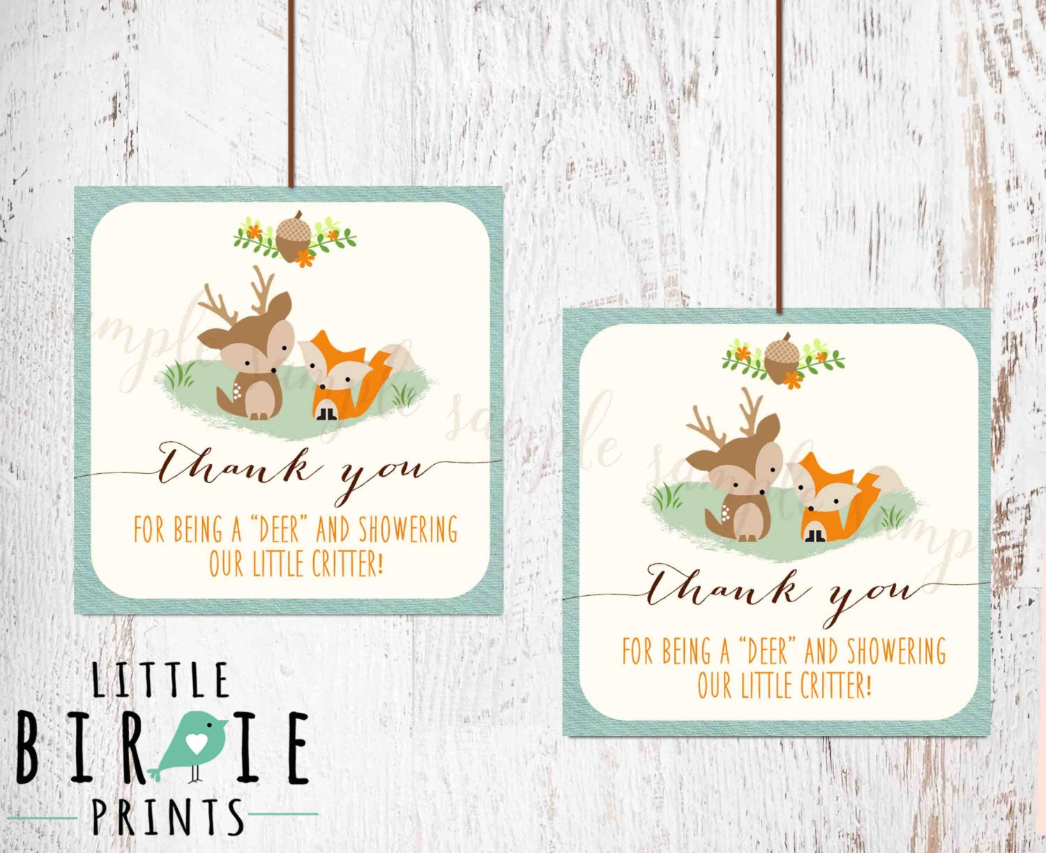woodland baby shower decorations woodland party favor tags