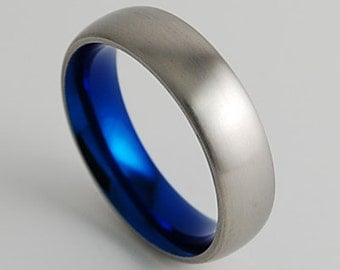 Wedding Band , Mens Titanium Ring , Olympia Band with Comfort Fit