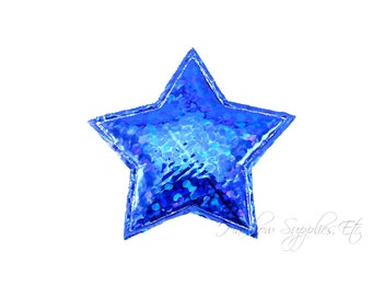 Royal Blue Stars Padded Applique 1 inch - July 4th Stars - Hairbow Supplies, Etc.