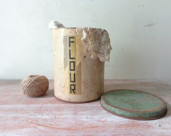 Rustic VIntage Flour Canister
