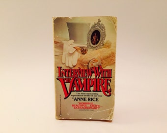 BOOKLOVERS SALE Vintage Horror Book Interview with the Vampire by Anne Rice 1978 Paperback