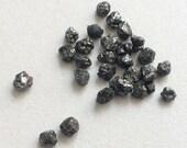 51% ON SALE WHOLESALE 5 Ctw, 10 Pcs Black Diamonds, Black Rough Diamond, Black Raw Diamond, Uncut Diamond, Conflict Free 4-6mm