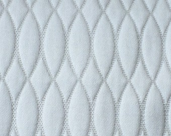 White Quilted Curtain Fabric By The Yard Upholstery Fabric Drapery Fabric Window Treatment Fabric Sofa Fabric