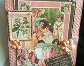 Mother's Day card handmade vintage shabby chic   Theme