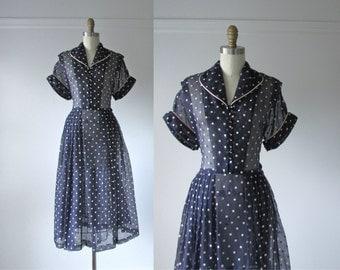 vintage 1950s dress / 50s dress / Milk and Cookies