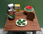 Half dozen gourmet Four Leaf Clover cookies - dollhouse miniature