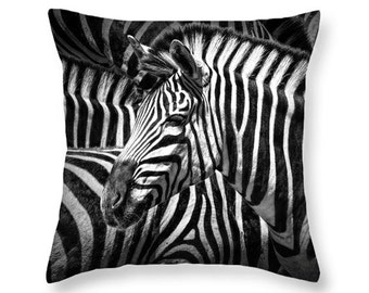 Zebra lost among the crowd  No.BW1582 novelty throw pillow Home Décor cushion cover