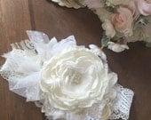 Easter sunday flower headband cozette couture blessing baptism christening handmade handcrafted photo prop