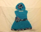 Doll dres hat set