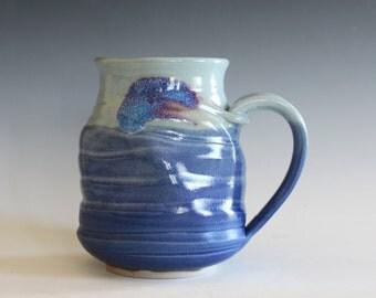 Twisted Coffee Mug, 21 oz, handmade ceramic cup, ceramic stoneware mug, coffee cup