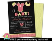 Baby Shower Invitations - Baby Girl Shower Invitations - Baby Shower Invite - Printable Baby Shower Invitation - Baby Sprinkle Invites