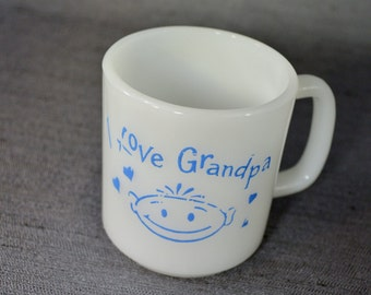 "Fun "" I Love Grandpa"" Mug from 60's."