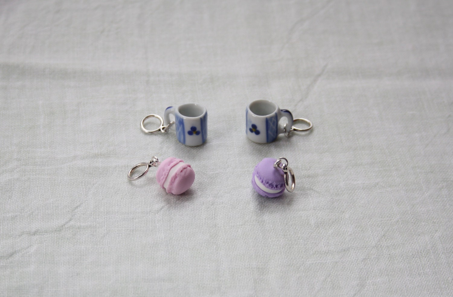 Knitting Markers Etsy : Stitchmarkers coffee break mugs cakes stitch markers