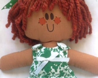 Lilliegiggles Brown Baby Rag doll named the Luck of Lucy