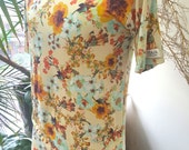 The Masculini-Tee  Men's floral Fitted T-shirt. A manly floral.