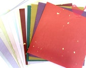 Scrap Pack - Japanese rice and origami paper ephemera, paper with beautiful golden 5