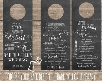Wedding Door Hanger Thank you - DIY Printing or Professional Prints
