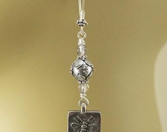 Boho Bee Earrings Silver Bee Jewelry
