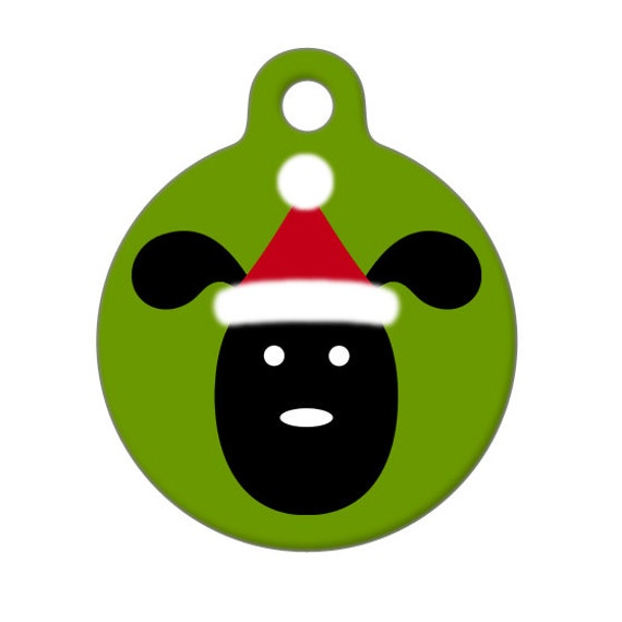 Pet ID Tag - Santa Puppy Pet Tag, Dog Tag, Luggage Tag, Child ID Tag
