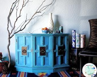 SALE!!!!! Vintage Turquoise Blue Cabinet