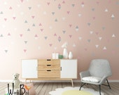 Triangle wall decals, baby nursery wall decor, gold triangle decals, wall decals