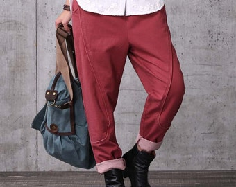 Casual Loose Fitting Comfortable and casual Radish pants - Women Clothing