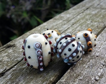 Desert Tribe - Lampwork bead set by Mad Cat Glass - OOAK