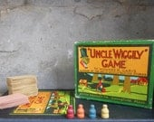 Antique Uncle Wiggily Board Game Early Milton Bradley Co. Howard Garis All Cards Tokens Vintage Toy Collectible