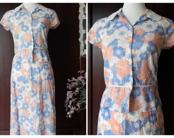 Vintage JUDITH HART~Two Piece~ Size 6P But runs Smaller~Linen Blend 90s Does 40s