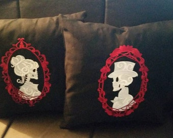 Skeleton Cameo pillow,skull