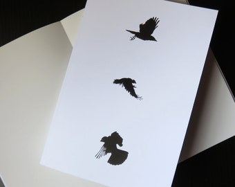 A5 sketchbook, crow design, crow print, drawing paper, crow stationery, crow gift, student gift, artist gift, art supplies, gothic gift