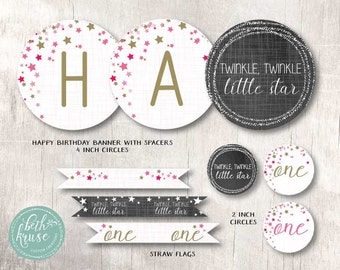 Twinkle Twinkle Little Star Instant Download Party by Beth Kruse Custom Creations