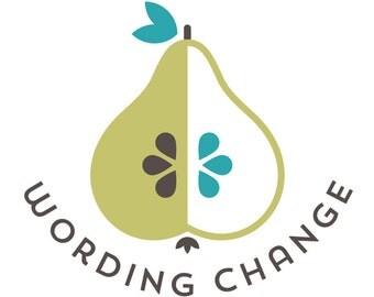 Wording Change