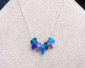 Ocean Jewels Lampwork Sea Glass Necklace (turq)
