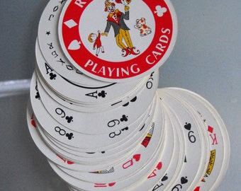 Fun Round Deck of Cards, New Orleans Souvenir Cards, Vintage Cards, Toys and Games, Unique Shaped Playing Cards, Louisiana