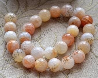 Charm 14mm agate round Gemstone Loose Beads,agate gemstone loose bead,semi-precious stone bead