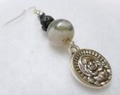 Men's Earring, Man's Earrings, Men's Jewelry, Man's Single Earring, Single Earring, Stone Earring, Yoga Earring, Zen Earring, Buddha Jewelry