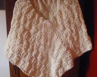 SALE! Poncho-COZY Velvety Handmade Bridal or Easy Slip On Shawl