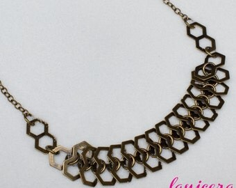 Brass Chain Double Link Necklace