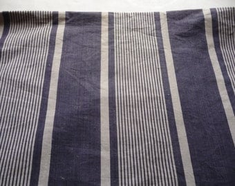 ANTIQUE FRENCH TICKING fabric indogo  blue stripe ticking ticking bolster cover