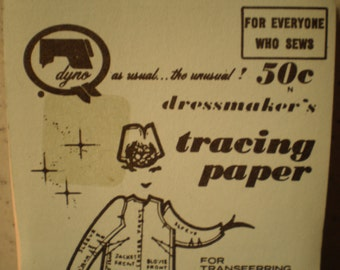 Vintage Mid Century Unused Set - Dressmaker's Tracing Paper