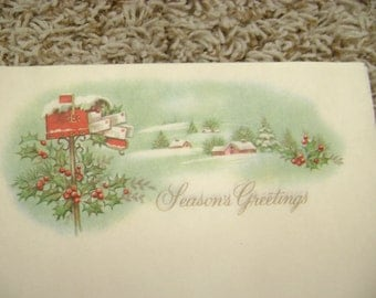 Two different winter stationery for scrapbook in or writing letters - Christmas