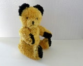 Vintage Sooty Bear - Cotton Plush Teddy - 1950's Sooty