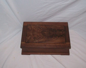 From the Prestige Collection comes the Walnut Jewelry Box with Mirror  under lid 15''x10 1/4''x5''Handmade
