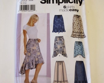 Skirt Pattern Simplicity 5597: Misses' Skirts with Length Variations Sizes 12-20 UNCUT - Women's Skirt, Clothing Pattern