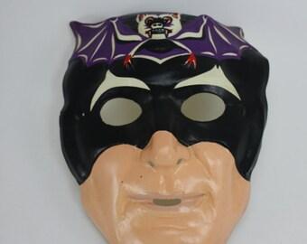 Vintage Halloween Mask Batman Plastic Collectible Halloween Mask Superhero Comic Book Character Spooky Halloween Party Halloween Decor
