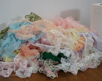 Lace Ruffle Destash Lot HUGE Stash